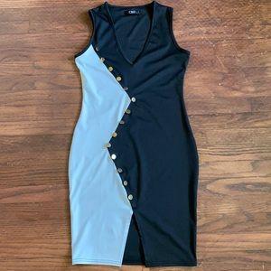 CBR black and white dress